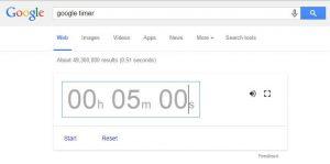 Google timer opcija